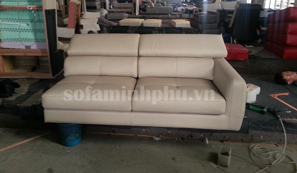Ghế sofa bọc da tại Xưởng Sofa Minh Phú