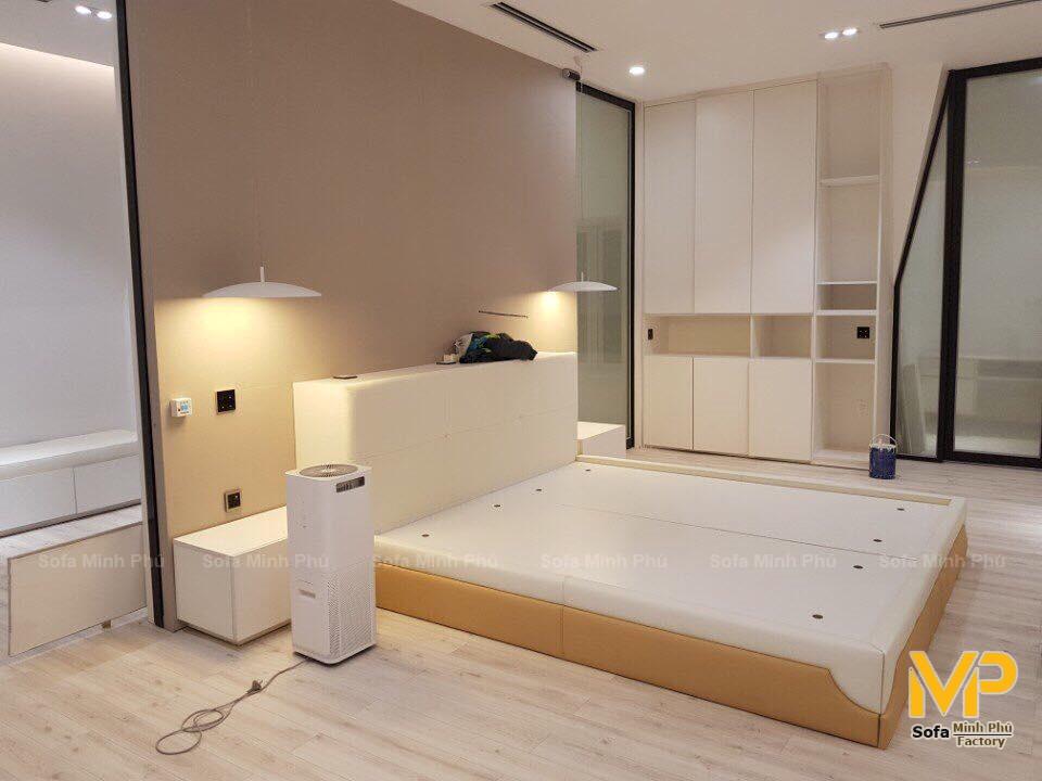 Sofa và giường da Ý bàn giao tại phố Trần Hưng Đạo