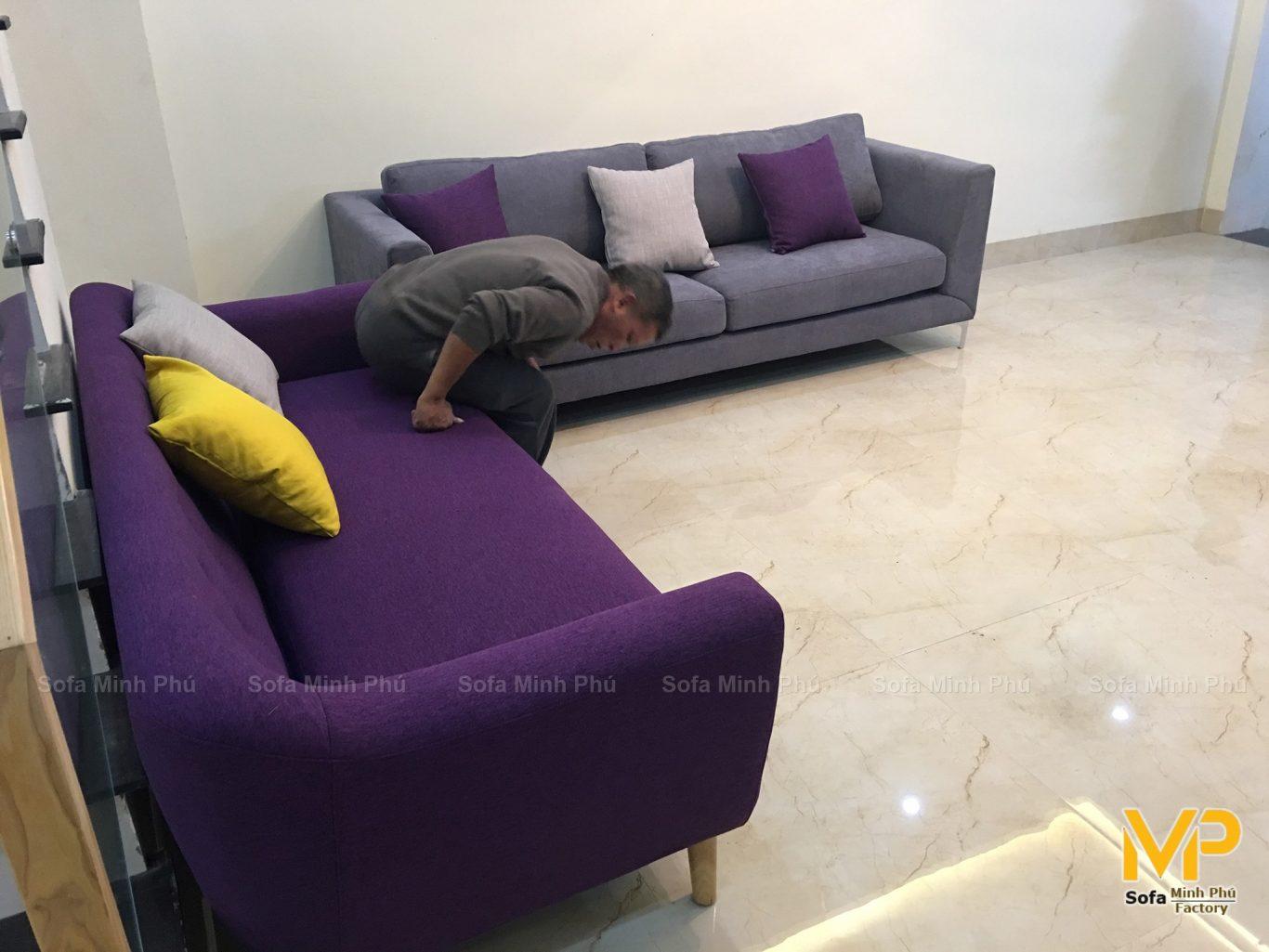 Bàn giao sofa nhà chị Thảo – Khu đô thị Xuân Phương
