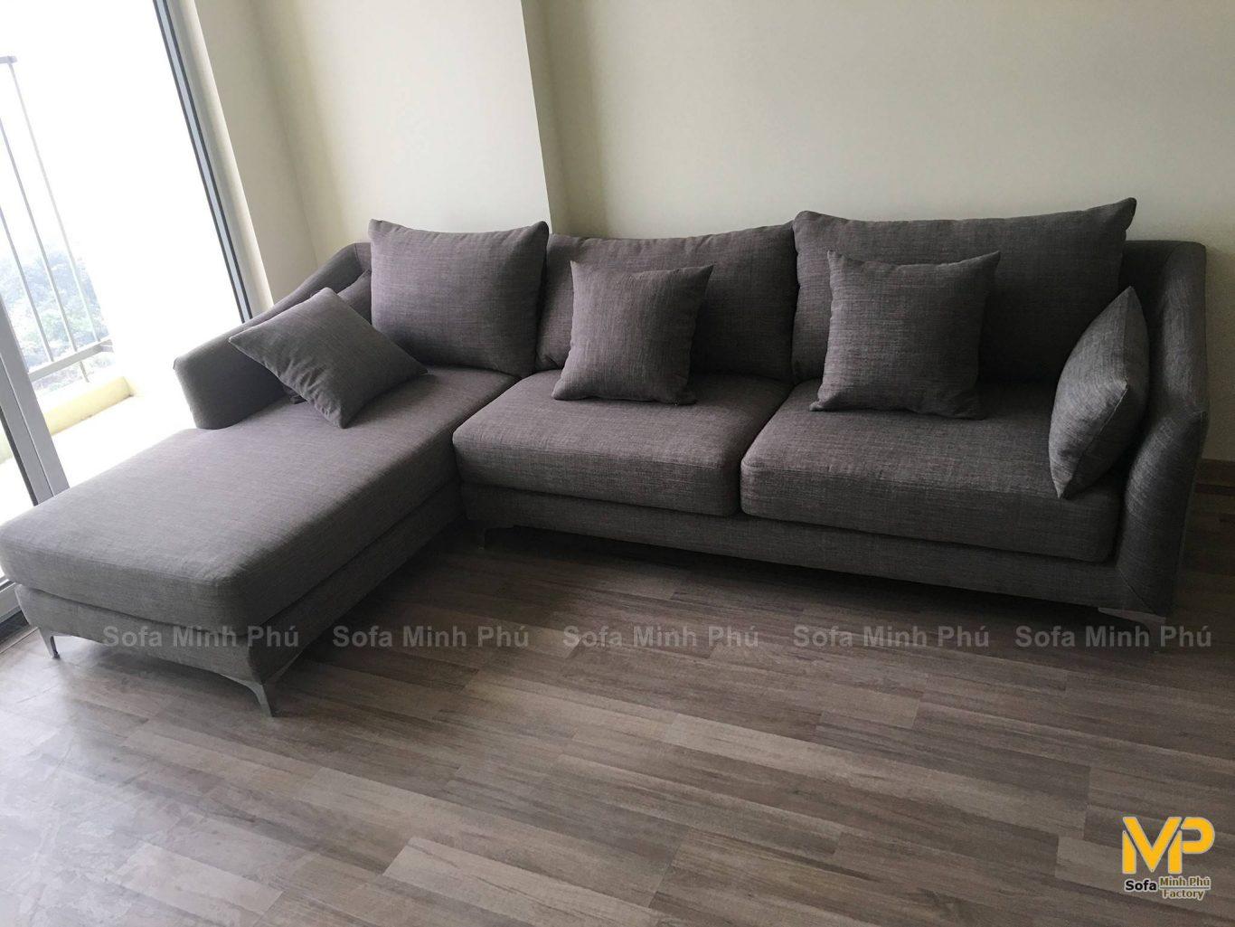 Sofa góc nỉ MS224