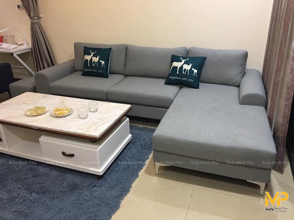 Sofa góc nỉ MS223