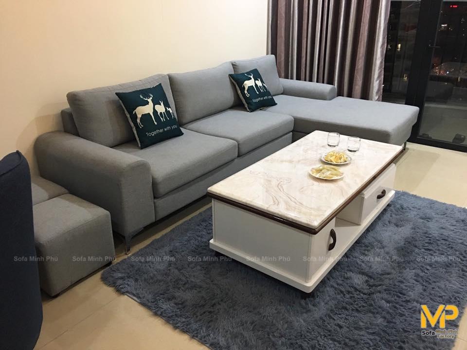 Bàn giao sofa nhà anh Khang- R5 Royal City