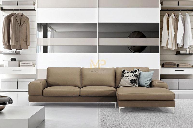 sofa góc da giá tại xưởng sản xuất