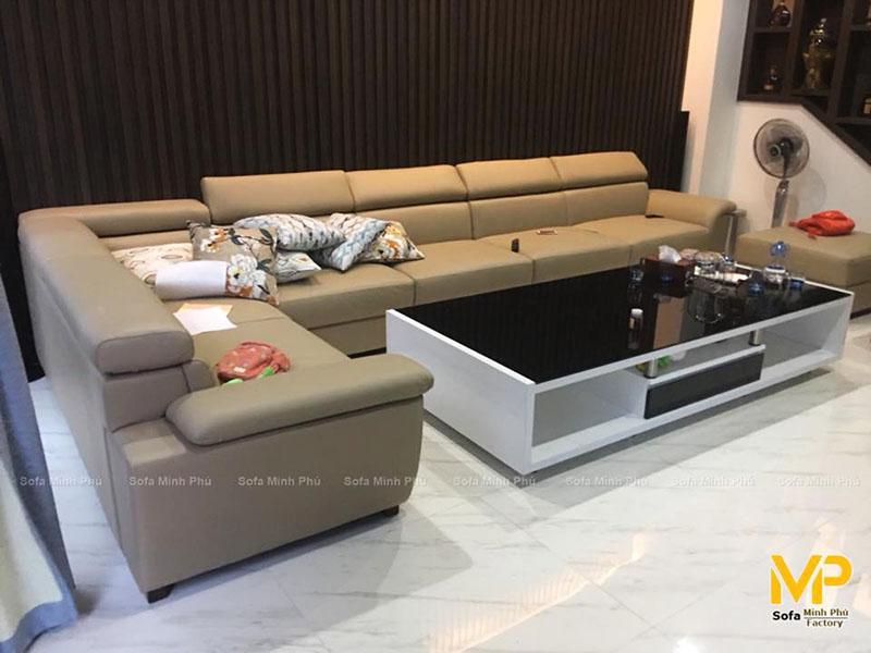 Bàn giao bộ sofa da thật  tại Tràng An Complex